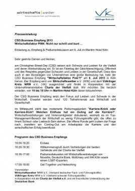 CSD Business Empfang